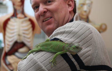 Mr. Jarnagin and his Green Iguana,