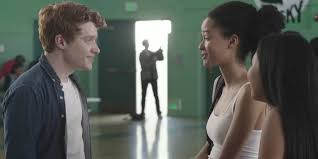 The end of the PSA where Evan and the girl he'd been chatting with all year through a desk finally meet...Just as a school shooter comes in the school.