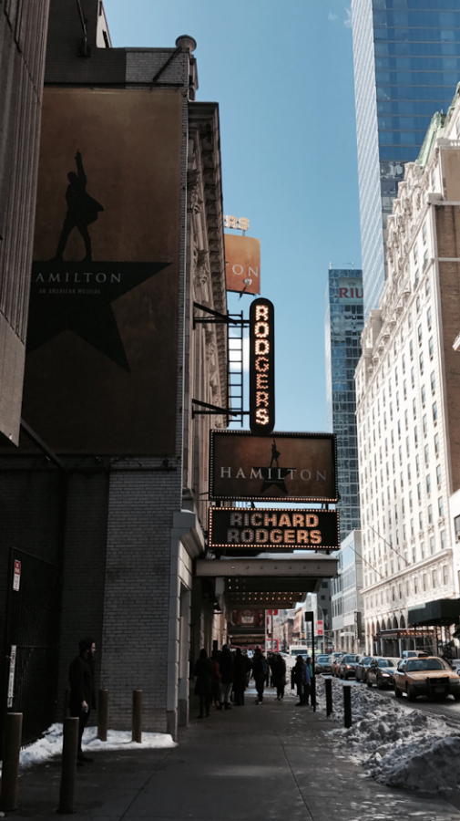 The+Richard+Rodgers+Theater%2C+where+the+Tony+Award-winning+musical+%22Hamilton%22+is+on+Broadway+in+New+York.+%22Hamilton%22+is+scheduled+to+come+to+the+Omaha+Performing+Arts+Center+for+their+