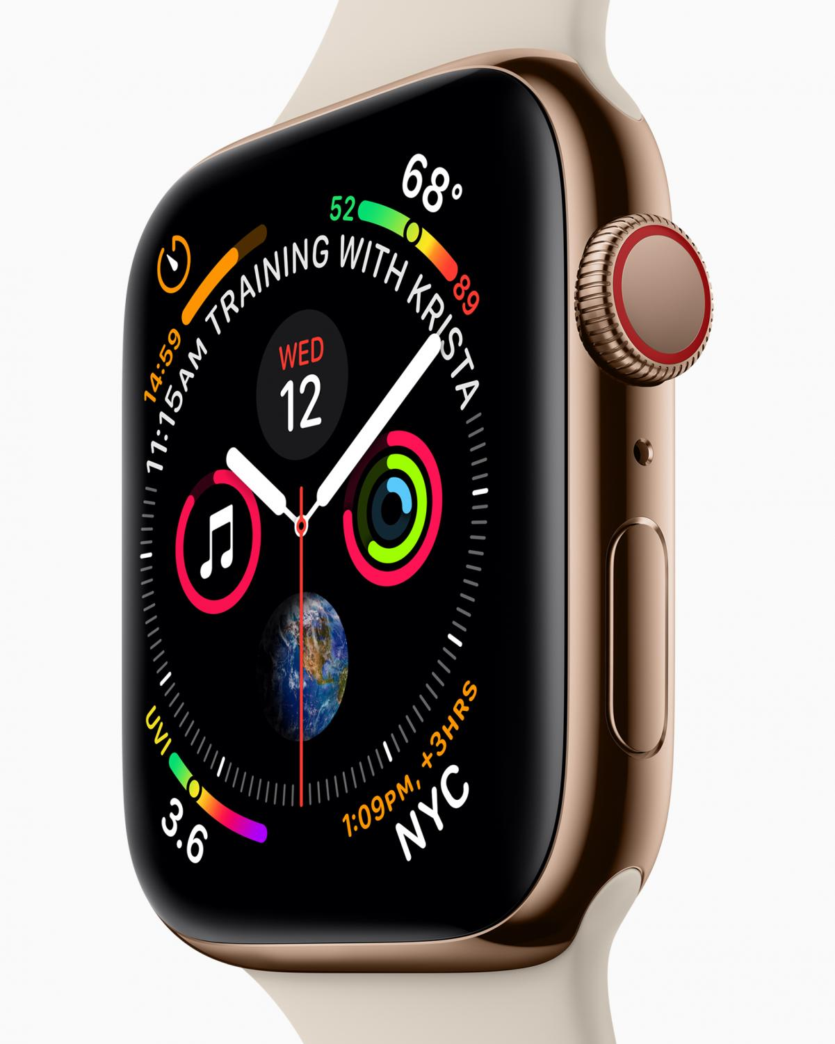The+new+Apple+Watch+Series+4+was+announced+Wednesday+at+Apple+Park.+They+will+go+on+sale+for+pre-order+starting+September+14.+Photo+courtesy+of+Apple.+All+rights+reserved.