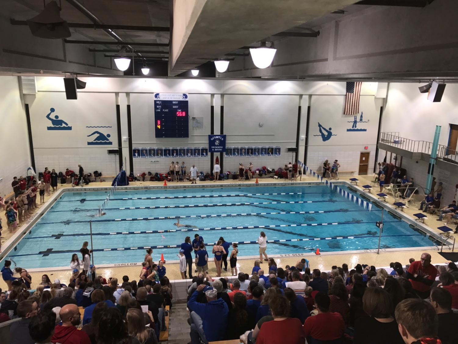 The stands were, well, packed at Pack the Pool on Tuesday the 15th.