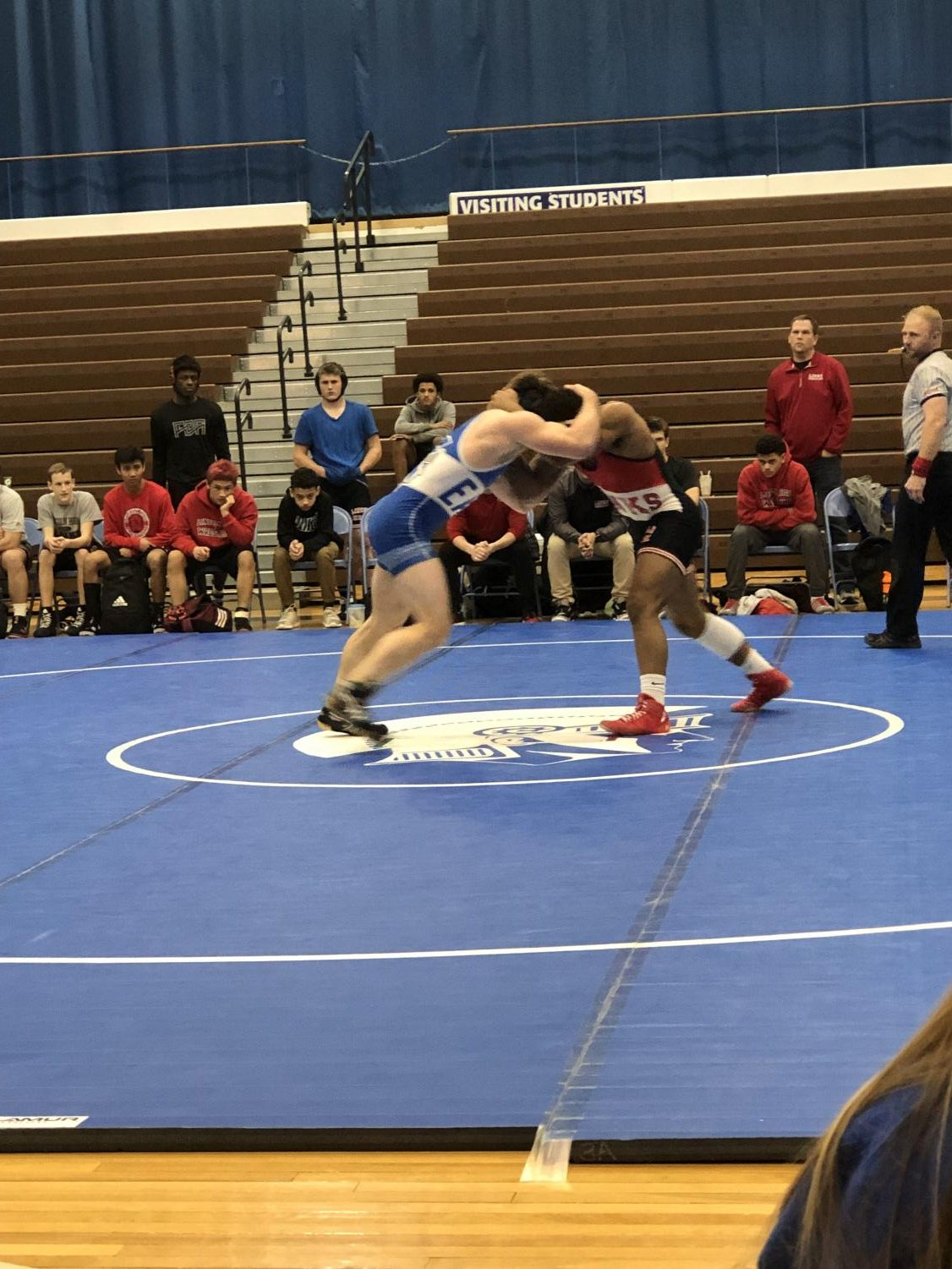 Lincoln East junior Grant Lyman vs. Lincoln High senior and Husker wrestling commit Isaiah Alford. Although Alford is ranked 1st in the state right now, Lyman (also ranked) put up quite a fight, nearly disturbing Alford's perfect win streak.