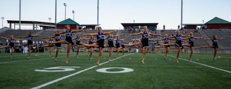 The Apollonaires performing their halftime routine at a football game this year.