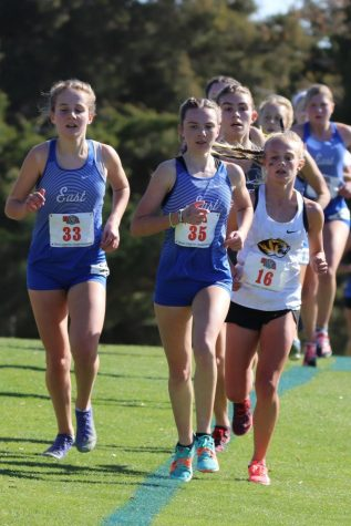 Berlyn Schutz competing in the Girls Class A state meet in November of this past year.