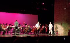 Students show the story of the Pink Panther during this year's cadenza,