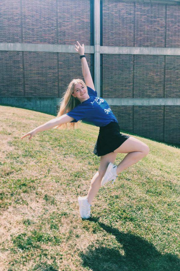 Anna Tessendorf showing off her amazing dance skills.