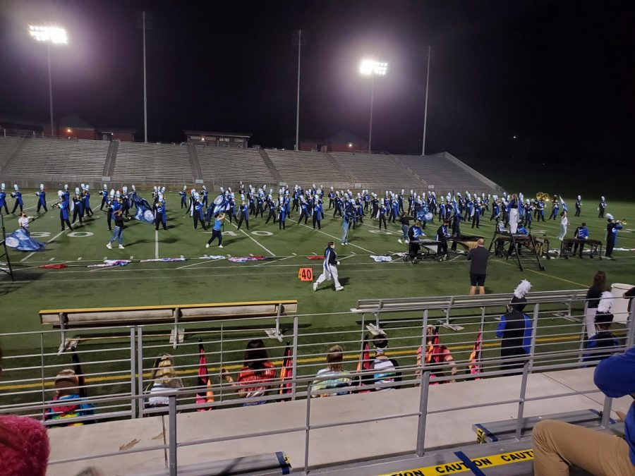 The Varsity Marching Band performed Saturday, October 10th at Seacrest field to a crowd of their closest friends and family.