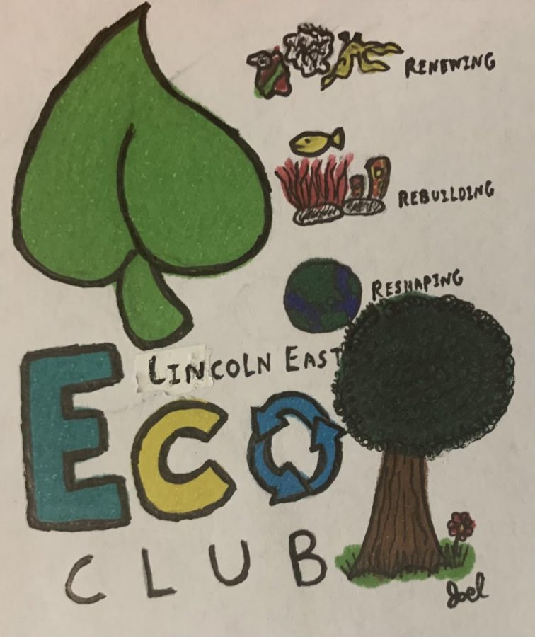 The students in Eco Club discuss a number of topics in their meetings, some pictured here, about how they can make a difference in the environment in Lincoln and at East.