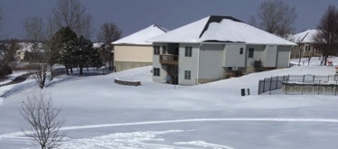 Snow storms like the one shown in this picture from last year can cause dangerous road conditions.