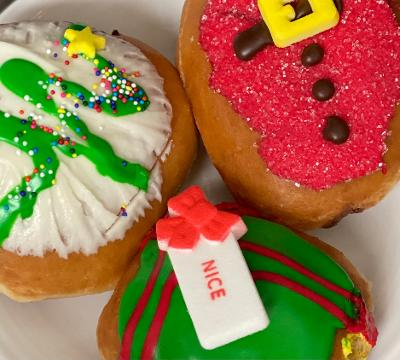Delicious holiday treats, like these donuts from Krispy Kreme, are now back on the menu at restaurants for a limited time.