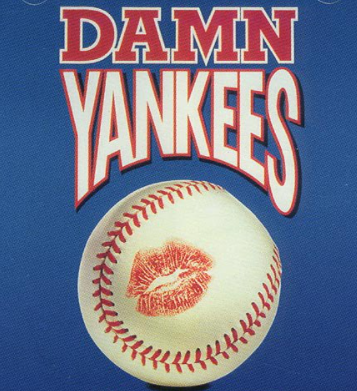 This is the official playbill poster for the Damn Yankees musical.