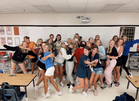 East Student Council, during their class meeting period, at the beginning of the school year on August 20th.