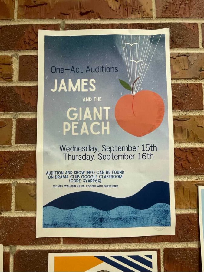 The One Act cast plans to perform James and the Giant Peach in the East High auditorium on November 10th.