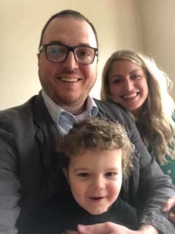 The Funks, Derek, Lauren, and their son Leo. They are both teach in the English department at Lincoln East. While they might not work together, they make a great team.